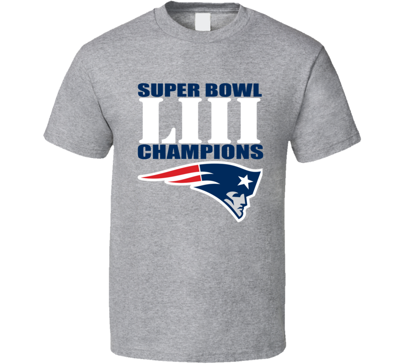 Super Bowl 53 Liii New England Won Champions 2019 Football T Shirt