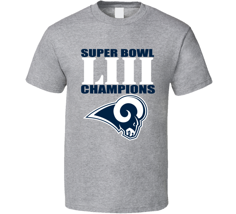 Los Angeles Football Superbowl Liii Champs 2019 T Shirt