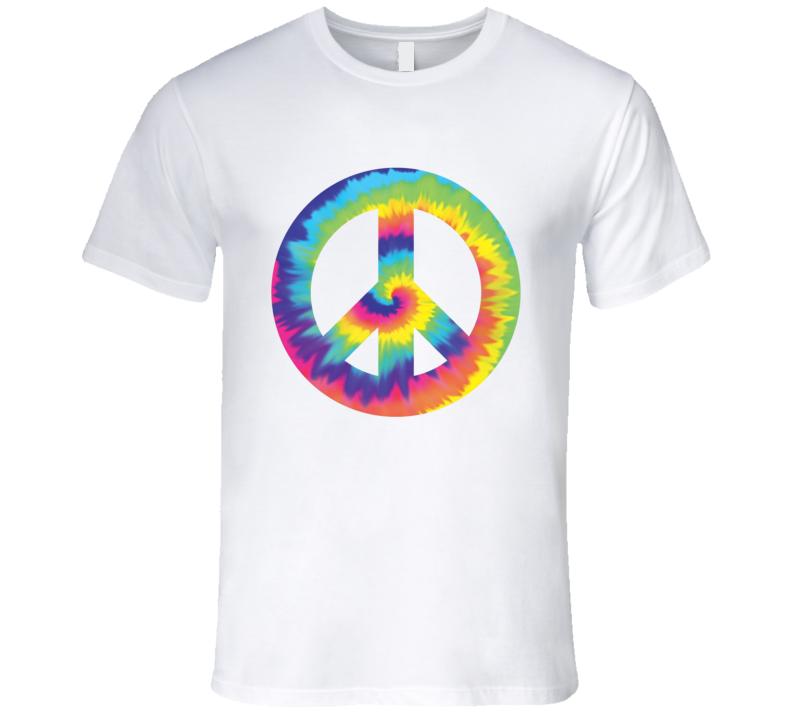 Peace Tie Dye Woodstock T Shirt