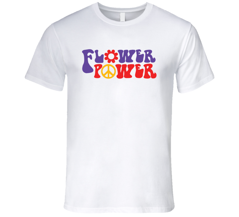 Flower Power Woodstock T Shirt