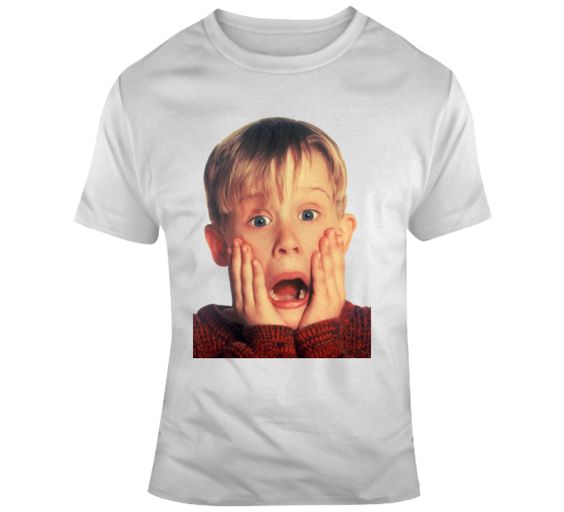 Kevin Mcallister Scared Face Macaulay Culkin Christmas T Shirt