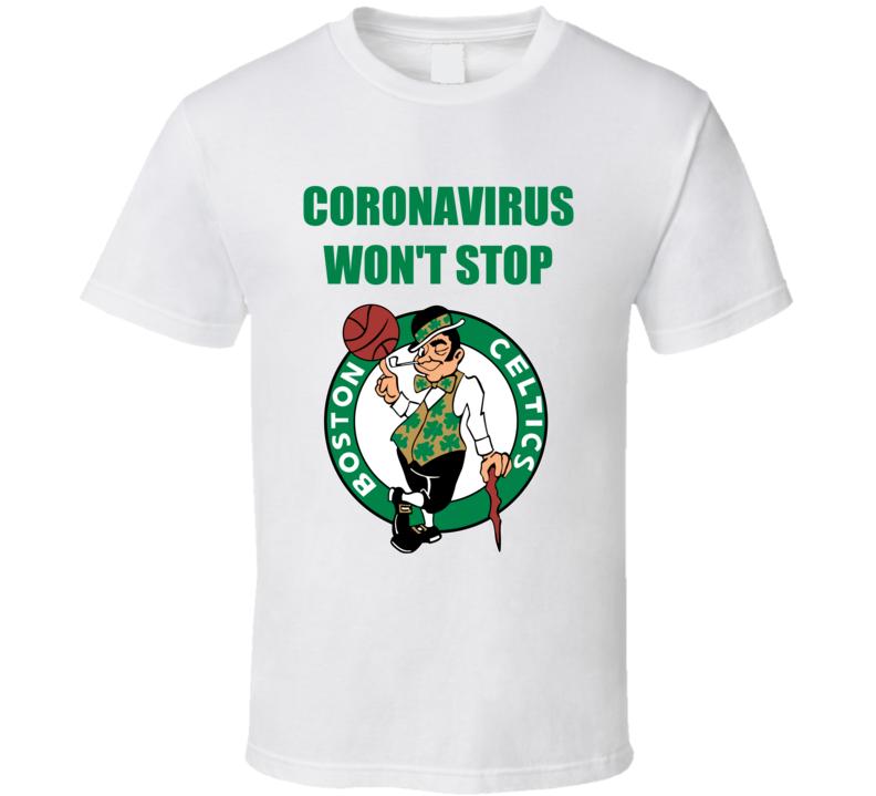 Coronavirus Covid Boston Basketball T Shirt