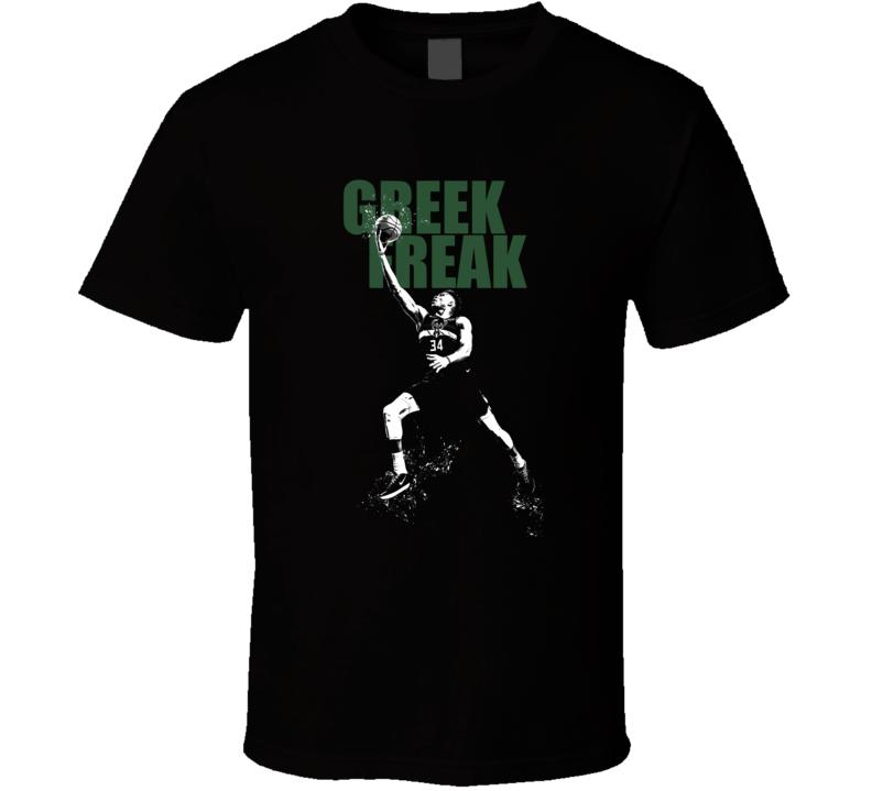 Giannis Antetokounmpo Greek Freak Milwaukee Basketball T Shirt