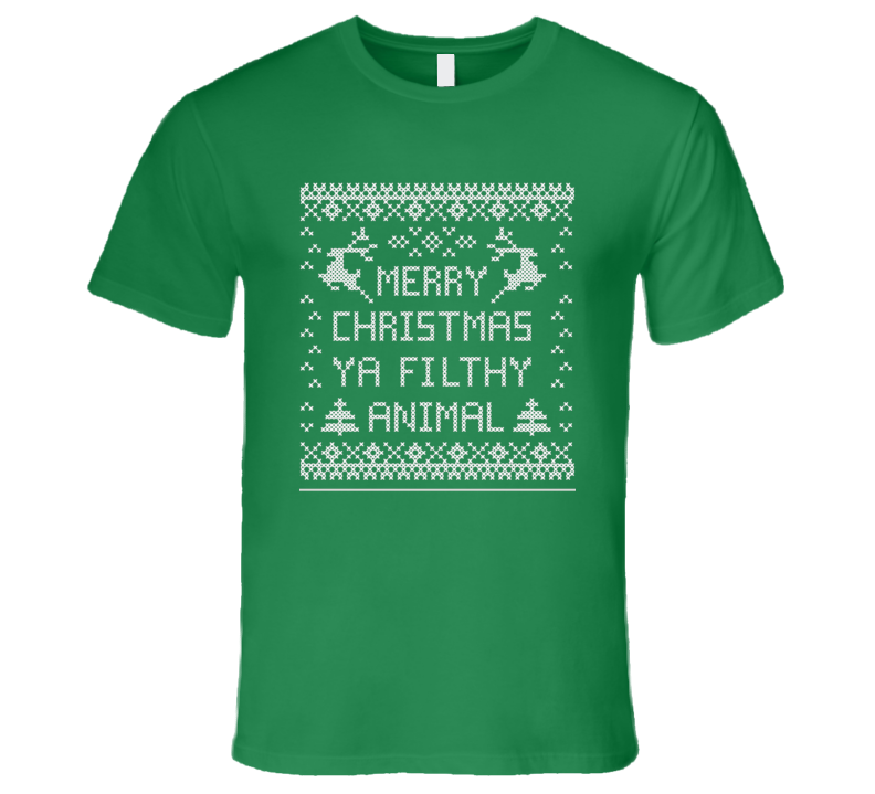 Ugly Christmas Sweater Home Alone T Shirt