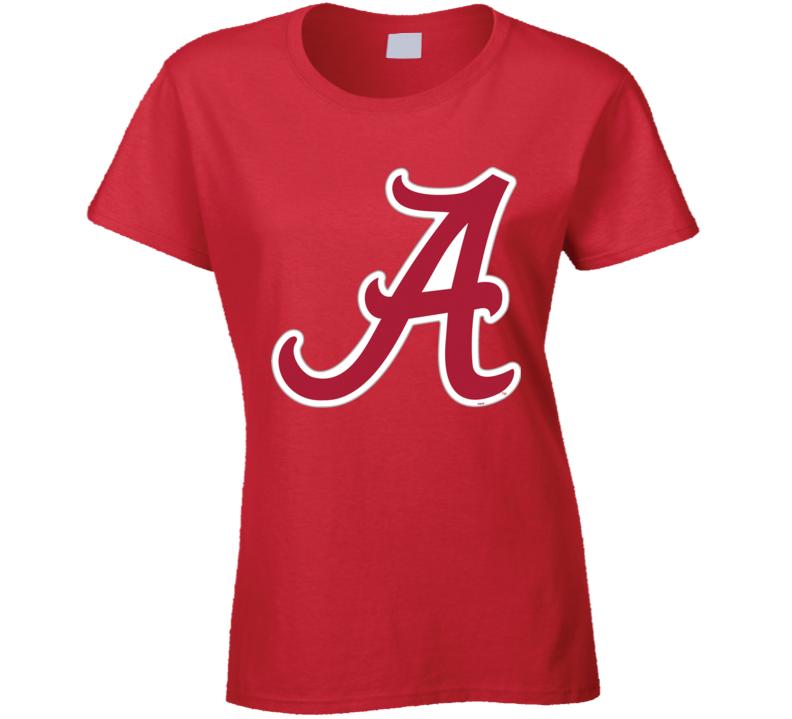 Ladies Or Mens Red Alabama Chrimson Tide T Shirt