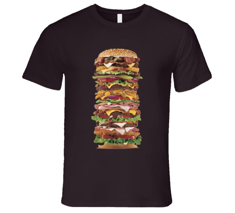 Giant Hamburger Food T Shirt