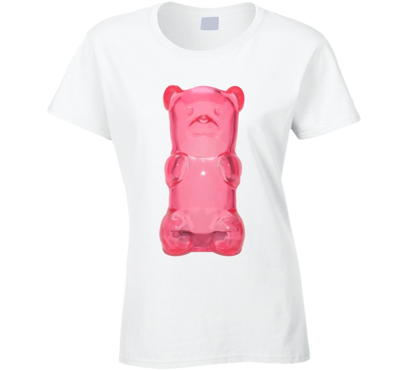 Ladies Pink Candy Gummy Bear T Shirt