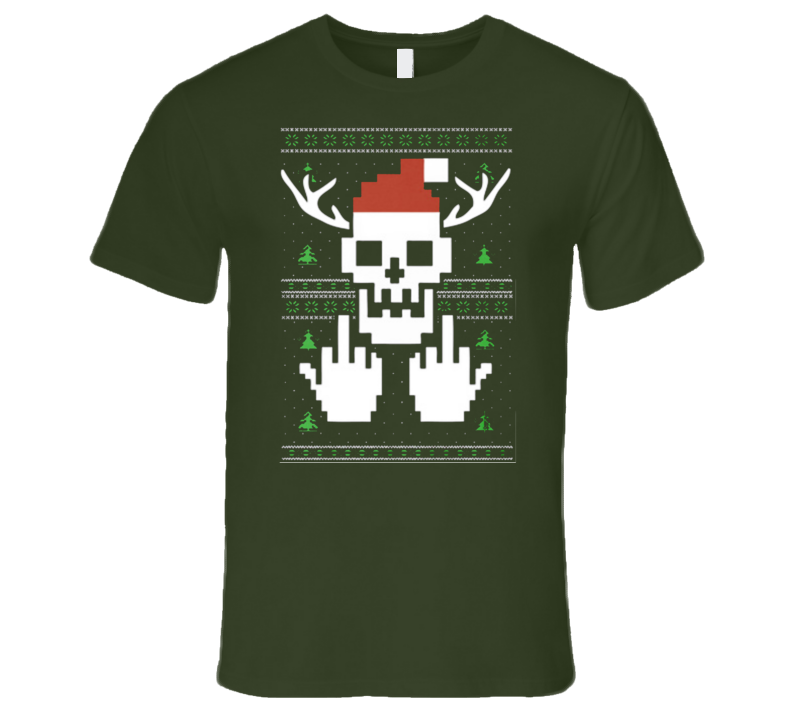 Funny Christmas Sweater Metal Hardcore T Shirt