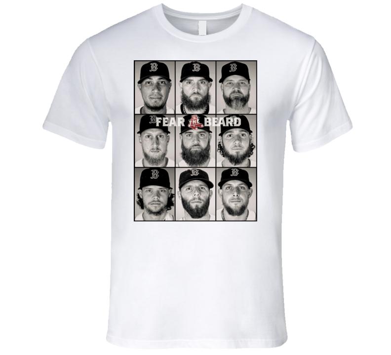 Boston Baseball Fear The Beard Fan T Shirt