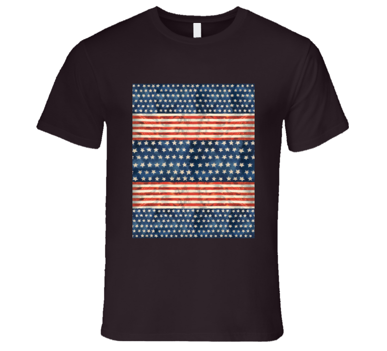 America Stars And Stripes USA Red White And Blue Patriotic T Shirt