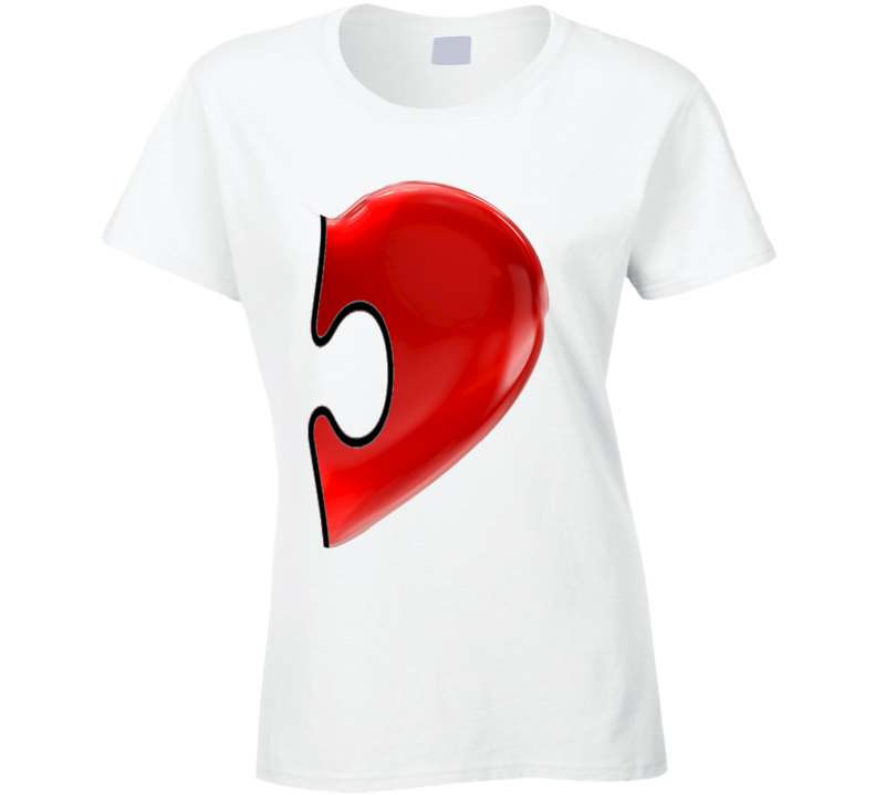 His And Hers Heart Puzzle Pieces Cute Couples T Shirt