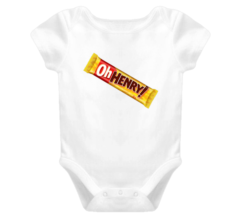 Oh Henry Candy Chocolate Bar Baby Onesie T Shirt