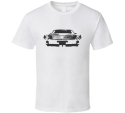 1968 Amx Grill View Faded Look White T Shirt