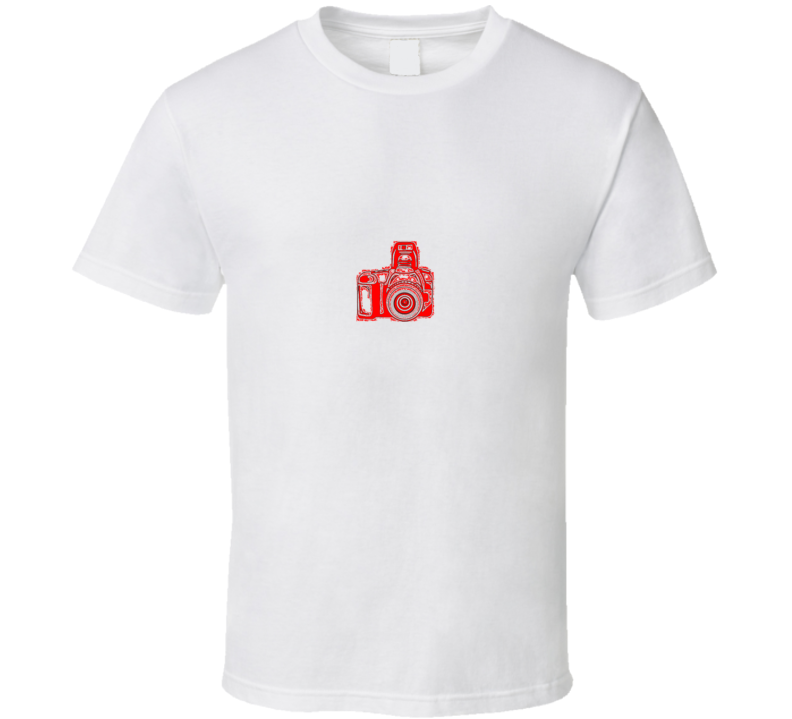 Camera Photography T Shirt Red
