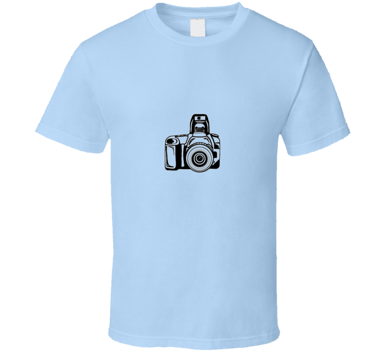 Camera Photography Blue TShirt