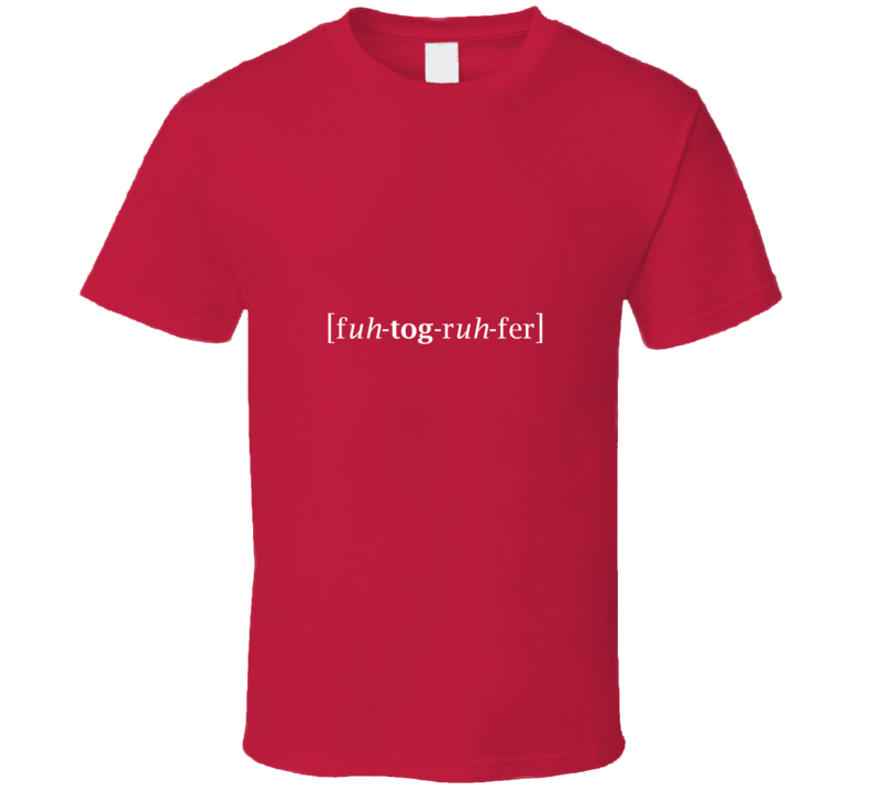 Photographer TShirt Red
