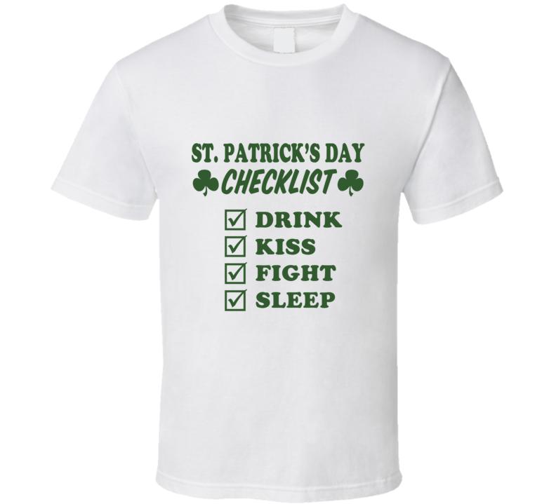 St Patricks Day Checklist T Shirt