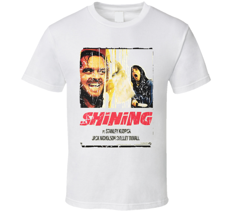 The Shining Movie Poster Retro Aged Look T Shirt