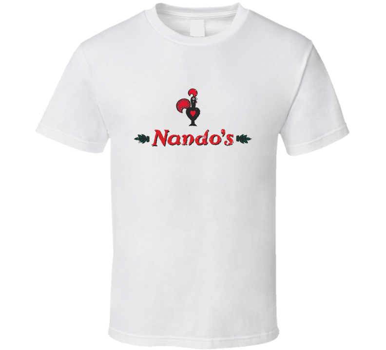 Nandos Fast Food Restaurant Distressed Look T Shirt