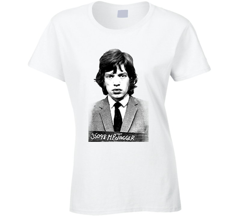 Jessica Alba Style Young Mick Jagger White T Shirt