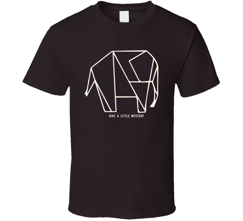 Origami Elephant Give A Little Mystery Dark Color T Shirt