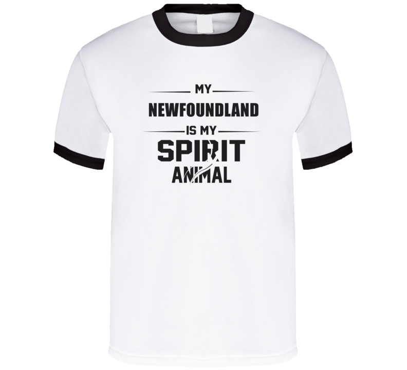 My Newfoundland Is My Spirit Animal Funny T Shirt