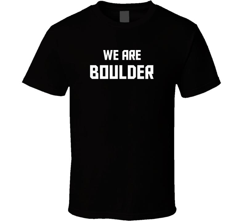 We Are Boulder Colorado Pride Usa State T Shirt