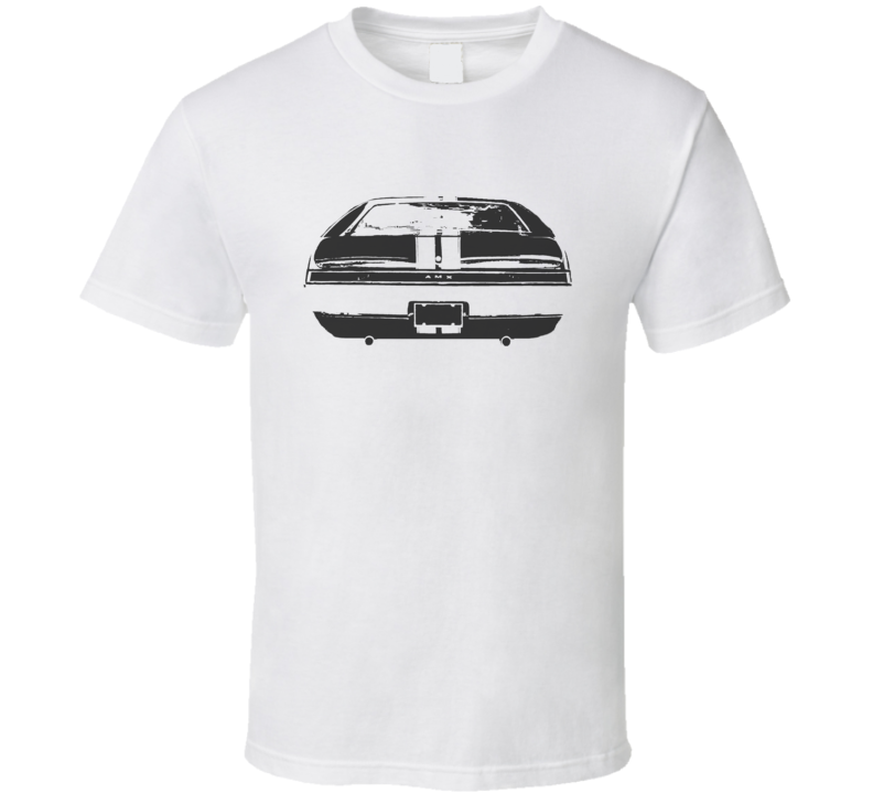 1968 Amx Rear View Faded Look White T Shirt