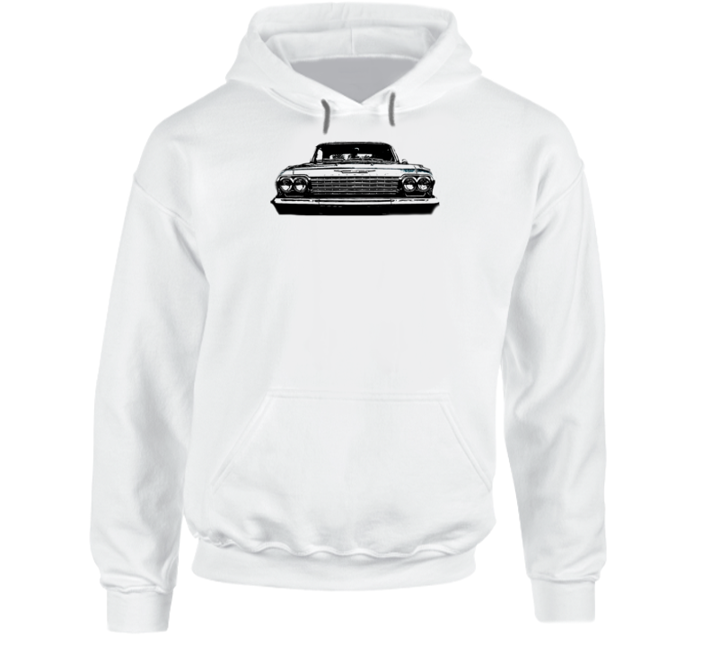 1962 Impala Grill View Super Comfy Light Color Hoodie
