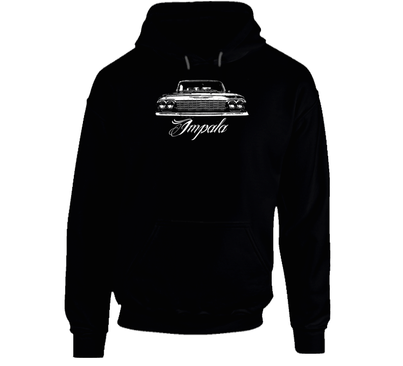 1962 Impala Grill View With Model Name Super Comfy Dark Color Hoodie