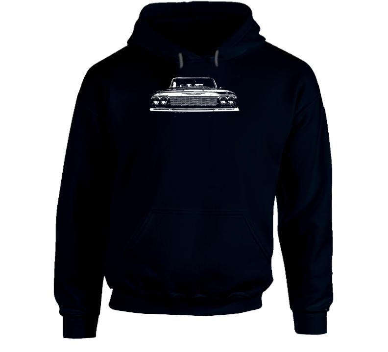 1962 Impala Grill View Super Comfy Dark Color Hoodie