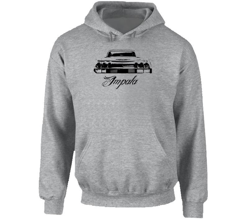 1962 Impala Rear View With Model Name Super Comfy Light Color Hoodie