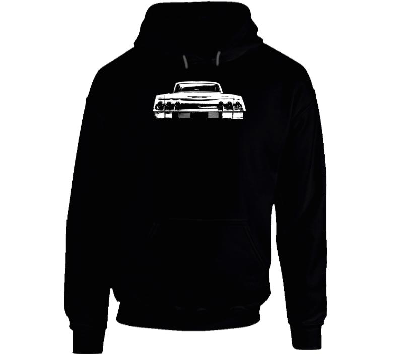 1962 Impala Rear View Super Comfy Dark Color Hoodie