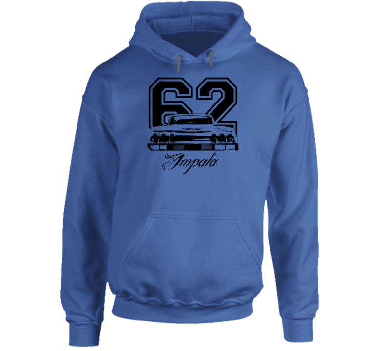 1962 Impala Rear View With Year And Model Name Super Comfy Light Color Hoodie