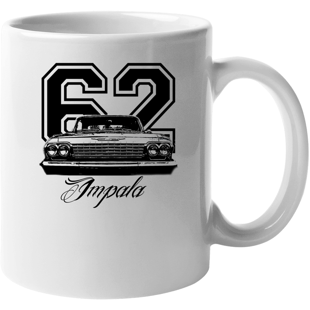 1962 Impala Grill View With Year And Model Name White Coffee Mug Mug