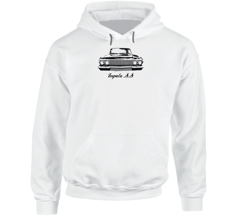 1963 Impala Grill View With Model Name Super Comfy Light Color Hoodie