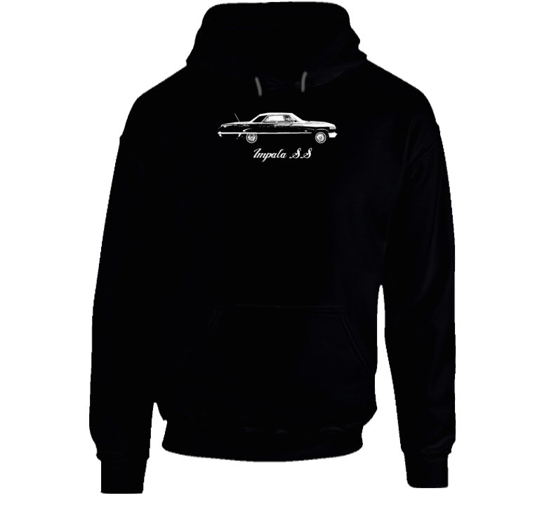 1963 Impala Side View With Model Name Super Comfy Dark Color Hoodie