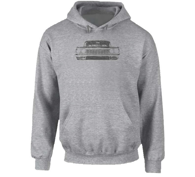 1964 Impala Grill View Super Comfy Light Color Hoodie