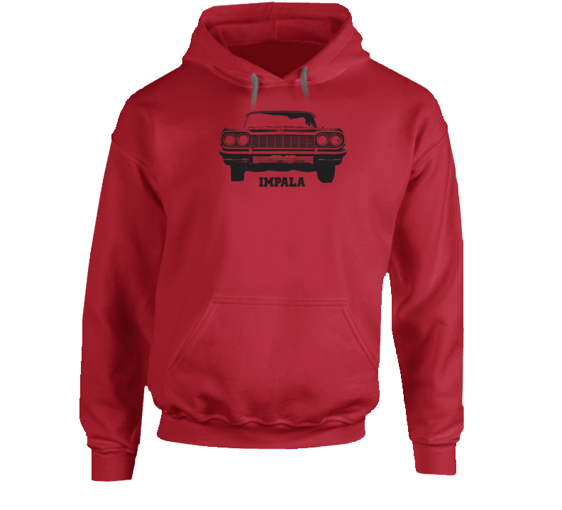 1964 Impala Grill View Model Name Super Comfy Light Color Hoodie