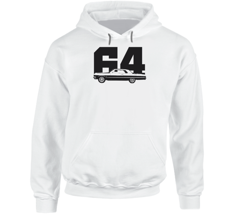 1964 Impala Side View With Year Super Comfy Light Color Hoodie