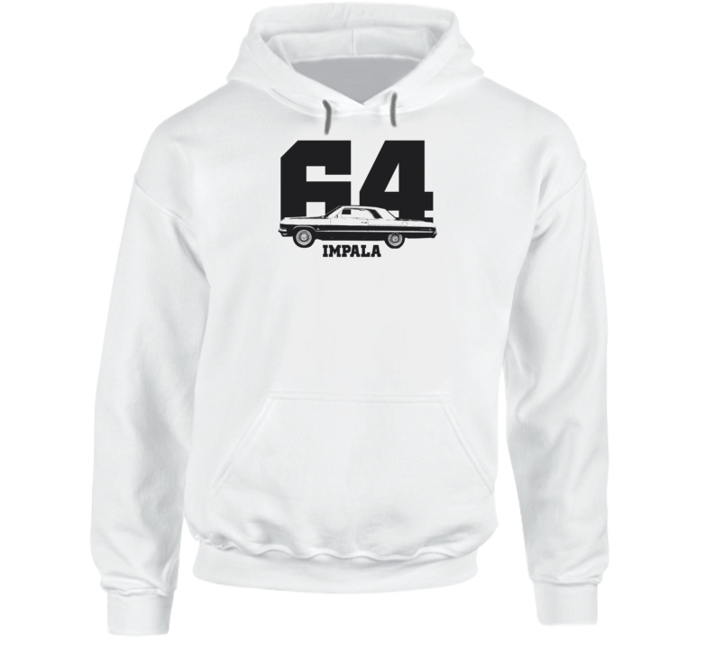 1964 Impala Side View With Year And Model Name Super Comfy Light Color Hoodie