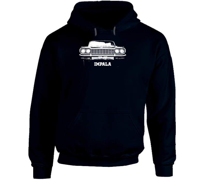 1964 Impala Grill View With Model Name Super Comfy Dark Color Hoodie