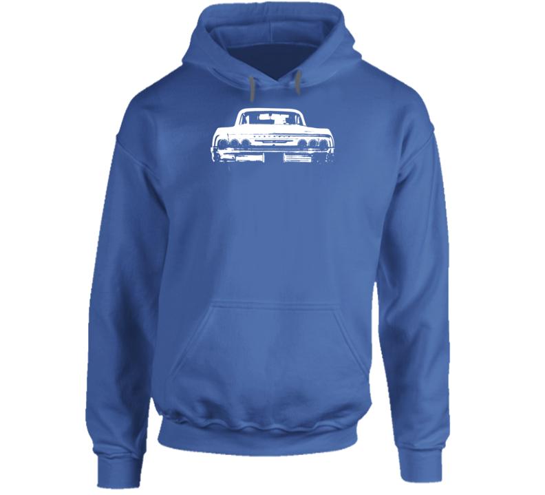 1964 Impala Rear View Super Comfy Dark Color Hoodie