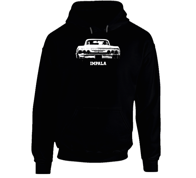 1964 Impala Rear View With Model Name Super Comfy Dark Color Hoodie