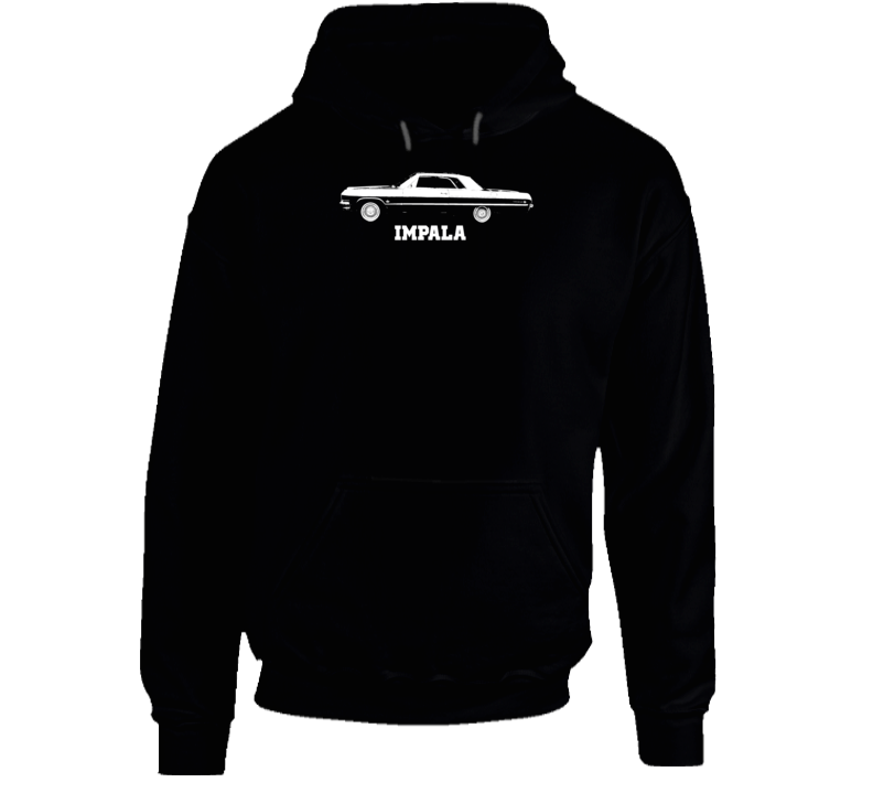 1964 Impala Side View With Model Name Super Comfy Dark Color Hoodie