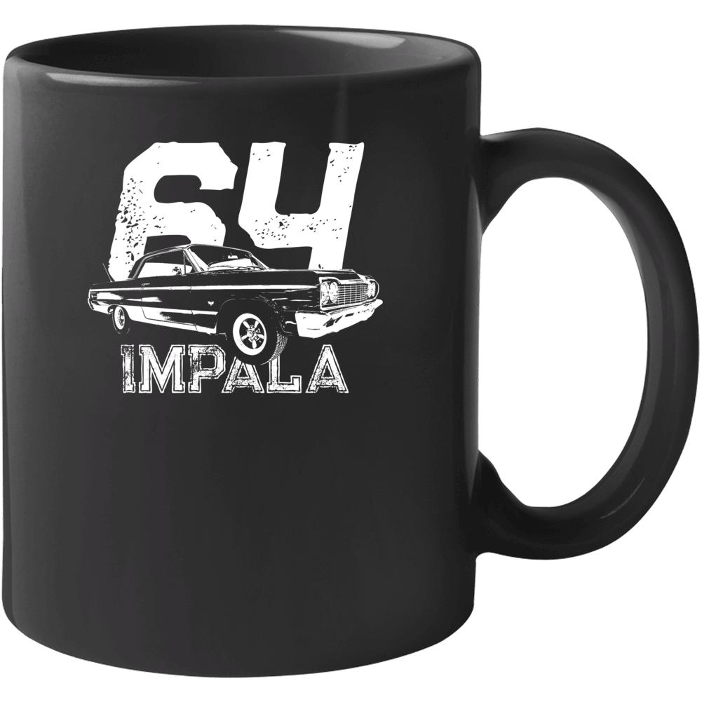 1964 Impala Three Quarter Angle View With Year And Model Name Black Coffee Mug Mug