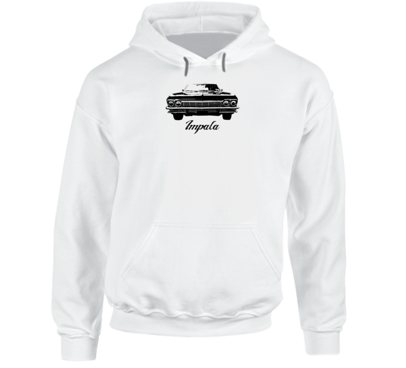 1965 Impala Grill View Super Comfy High Quality Light Color Hoodie