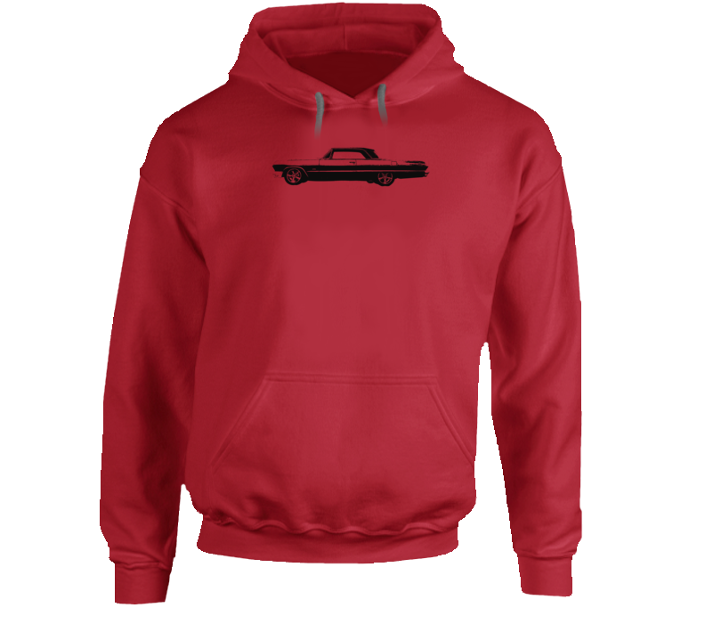 1965 Impala Side View With Year And Model Name Super Comfy High Quality Light Color Hoodie