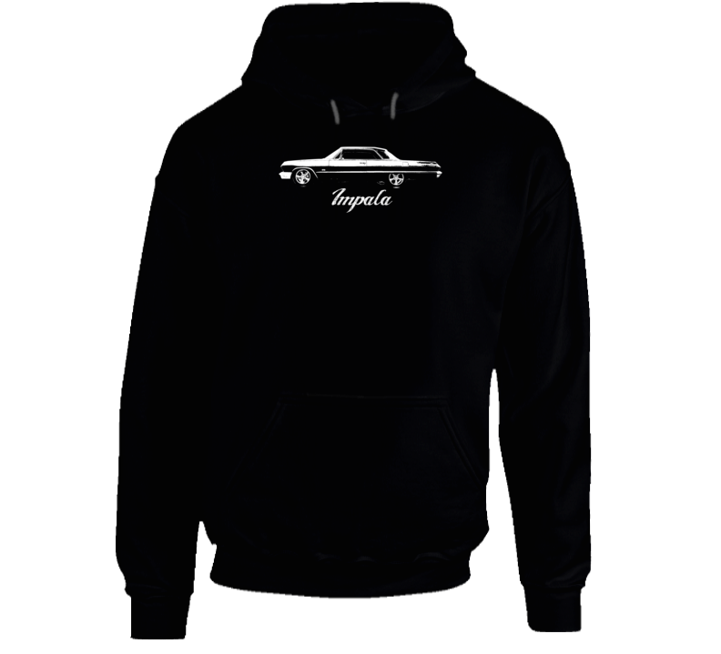 1965 Impala Side View With Model Name Super Comfy High Quality Dark Color Hoodie