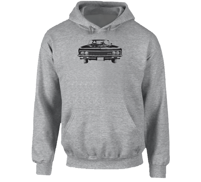 1966 Impala Grill View Super Comfy High Quality Light Color Hoodie